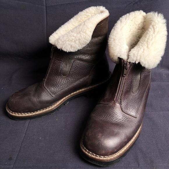 Blondo Brown 0 Virgin Wool Lined Boots